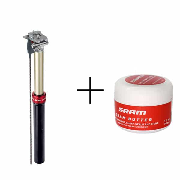 Nettoyage tige de selle télescopique + lubrification
