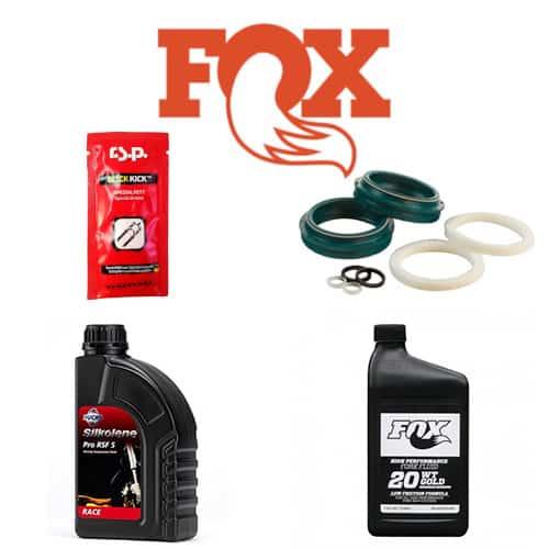 Pack joints SKF Low Friction + huile Silkolène 5W + huile Fox 20W Gold + graisse Slick Kick RSP 8g