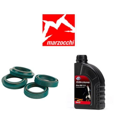 Pack joints spis SKF + huile Silkolène 7.5WT pour vidange fourche Marzocchi