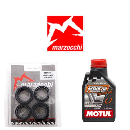 Pack joints spis + huile Motul pour entretien de fourche Marzocchi