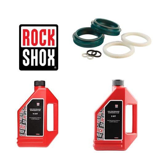 Pack joints spis SKF + huiles pour vidange fourche Rock Shox 32 mm