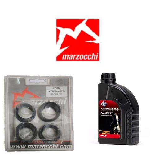 Pack joints spis + huile Silkolène pour vidange fourche Marzocchi 30 mm
