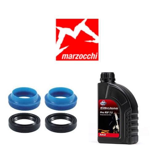 Pack joints spis Enduro Bearing + huile Silkolène pour vidange fourche Marzocchi 30 mm