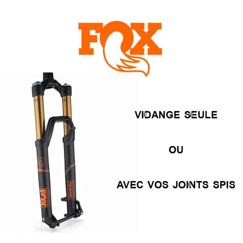 Vidange d'huile fourche VTT Fox Racing Shox