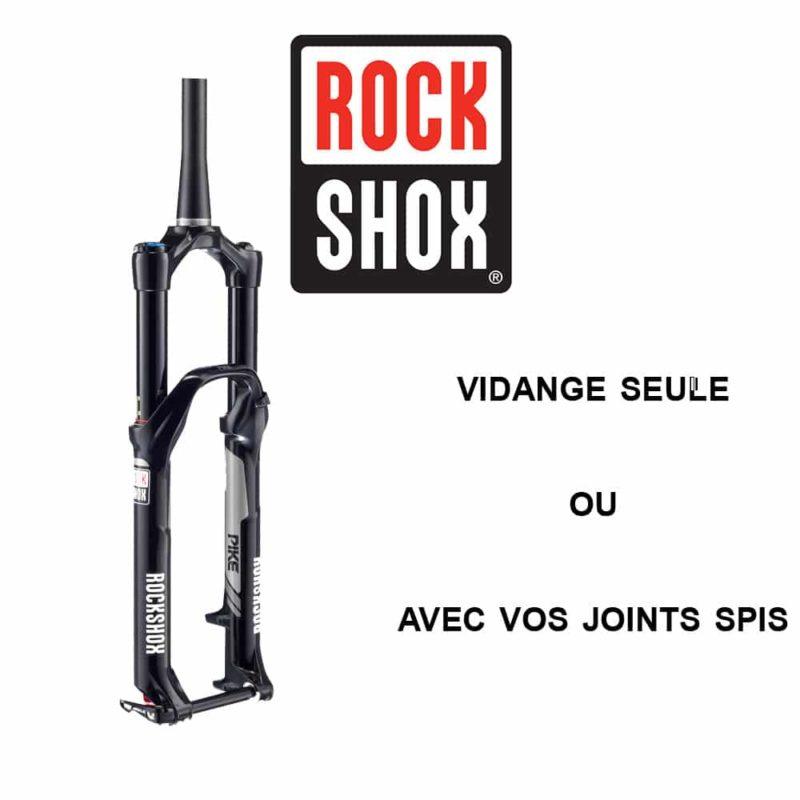 Entretien fourche VTT Rock Shox
