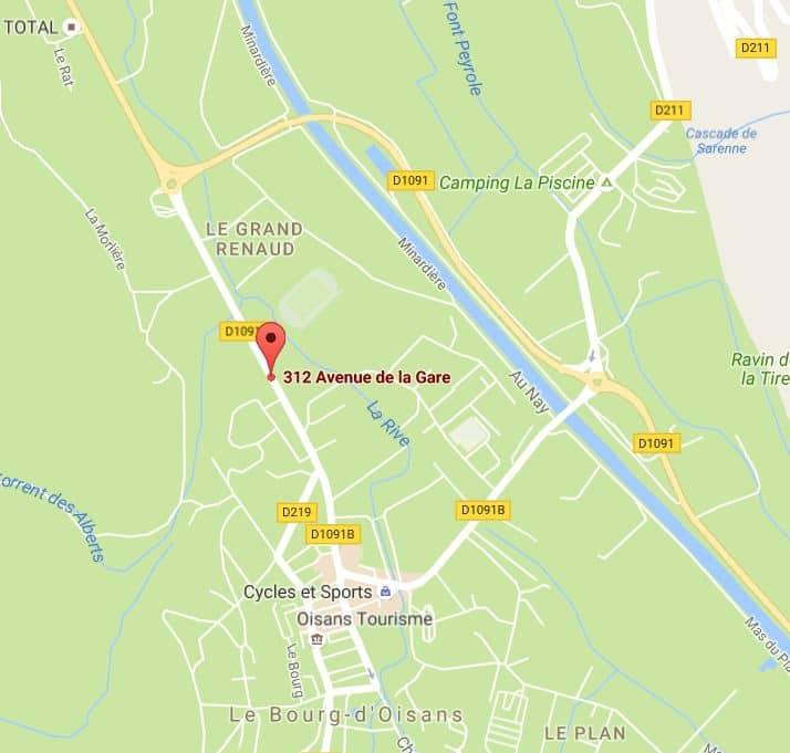 Carte: Pro Bike Support, 312 avenue de la Gare 38520 Bourg d'Oisans