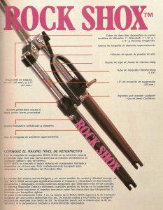 Première fourche VTT suspendue: la Rock Shox RS-1