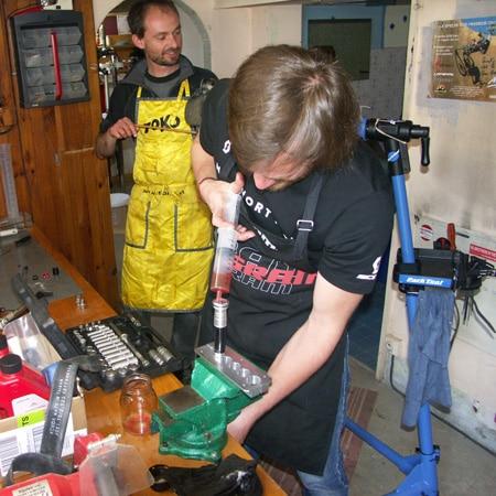Apprentissage entretien fourche VTT